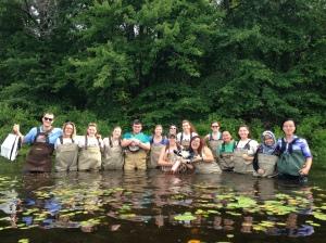 Collecting Phytoplankton at Otis Lake